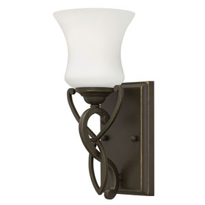 Brooke Olde Bronze One-Light Bath Fixture