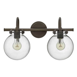 Congress Oil Rubbed Bronze 11.5-Inch Two-Light Bath Fixture