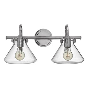 Congress Chrome 9-Inch Two-Light Bath Fixture