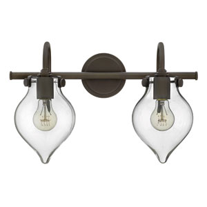 Congress Oil Rubbed Bronze 19-Inch Two-Light Bath Fixture