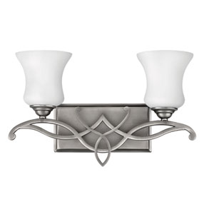 Brooke Antique Nickel Two-Light Bath Fixture