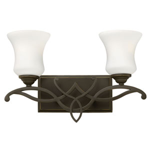 Brooke Olde Bronze Two Light Bath Fixture