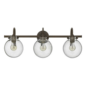 Congress Oil Rubbed Bronze 29.5-Inch Three Light Bath Fixture