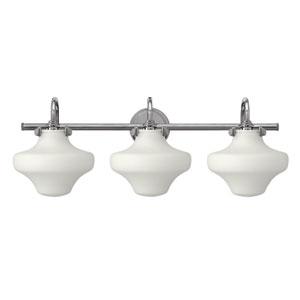 Congress Chrome 30-Inch Three Light Bath Fixture