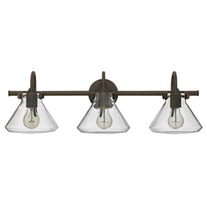 Congress Oil Rubbed Bronze 29-Inch Three-Light Bath Fixture