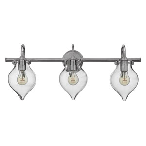 Congress Chrome 12-Inch Three Light Bath Fixture