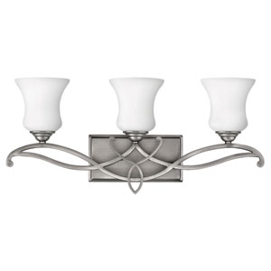 Brooke Antique Nickel Three-Light Bath Fixture