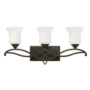 Brooke Olde Bronze Three Light Bath Fixture