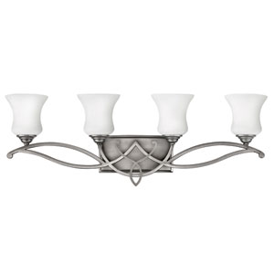 Brooke Antique Nickel Four-Light Bath Fixture