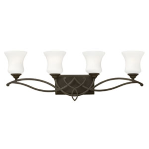 Brooke Olde Bronze Four Light Bath Fixture