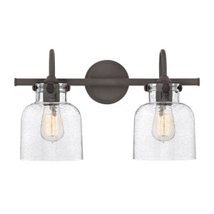 Congress Oil Rubbed Bronze 19-Inch Two-Light Bath Light