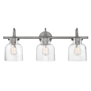 Congress Antique Nickel 30-Inch Three-Light Bath Light
