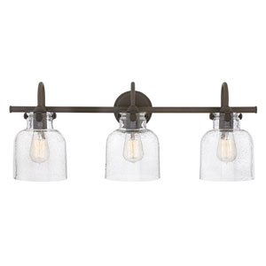 Congress Oil Rubbed Bronze 30-Inch Three-Light Bath Light