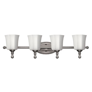 Shelly Brushed Nickel Four-Light Bath Fixture