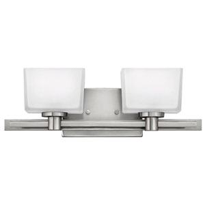 Taylor Brushed Nickel Two-Light LED Bath Vanity