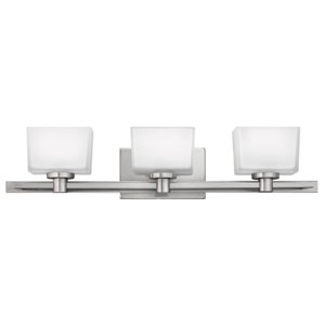 Taylor Brushed Nickel Three-Light Bath Light
