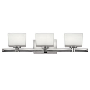Taylor Chrome Three-Light LED Bath Vanity