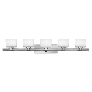 Taylor Chrome Five-Light LED Bath Vanity