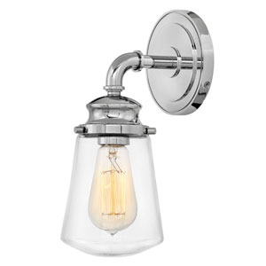 Fritz Chrome One-Light Bath Sconce