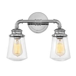 Fritz Chrome Two-Light Bath Light