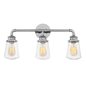 Fritz Chrome Three-Light Bath Light