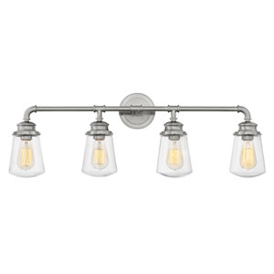 Fritz Brushed Nickel Four-Light Bath Light