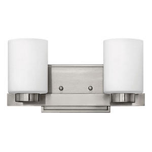Miley Brushed Nickel Two-Light Bath Light