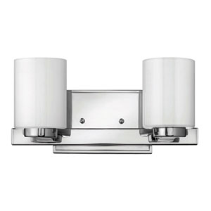 Miley Chrome Two-Light LED Bath Vanity