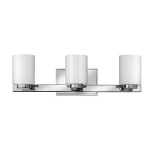 Miley Chrome Three-Light Bath Fixture