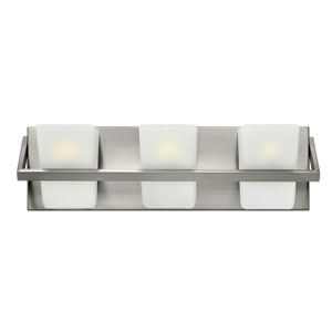 Blaire Brushed Nickel Three Light Bath Fixture