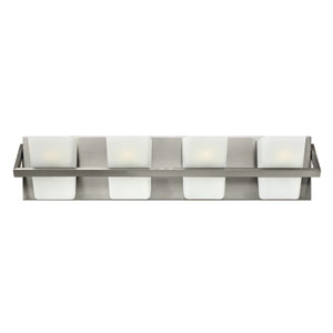Blaire Brushed Nickel Four Light Bath Fixture