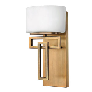 Lanza Brushed Bronze LED Bath Sconce