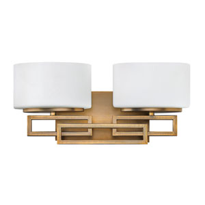 Lanza Brushed Bronze Two-Light Bath Fixture