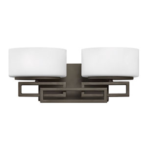 Lanza Buckeye Bronze Two-Light Bath Sconce