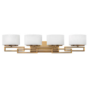 Lanza Brushed Bronze Four-Light Bath Fixture