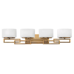 Lanza Brushed Bronze Four-Light LED Bath Vanity