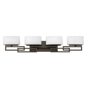 Lanza Buckeye Bronze Four-Light Bath Sconce
