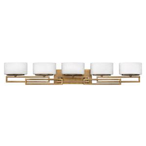 Lanza Brushed Bronze Five-Light LED Bath Vanity