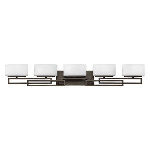 Lanza Buckeye Bronze Five-Light LED Bath Vanity