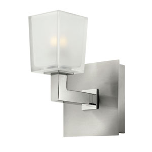 Zina Brushed Nickel One-Light Halogen Bath Fixture