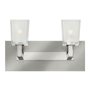 Zina Brushed Nickel Two Light Halogen Bath Fixture