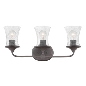 Thistledown Buckeye Bronze Three-Light Bath Light