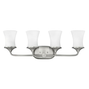 Thistledown Polished Nickel Three-Light 10.5-Inch Bath Light