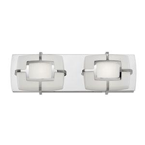 Sisley Polished Nickel 15-Inch LED Bath Light