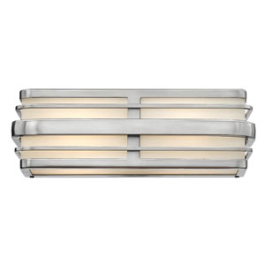 Winton Brushed Nickel Two-Light LED Bath Vanity