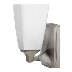 Darby Brushed Nickel One-Light Bath Sconce