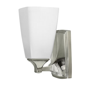 Darby Polished Nickel One-Light Bath Sconce