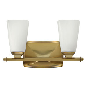 Darby Brushed Caramel Two-Light Bath Sconce