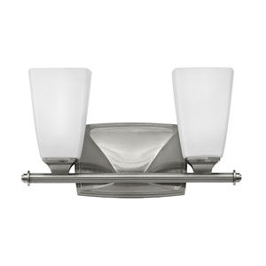 Darby Brushed Nickel Two-Light Bath Sconce