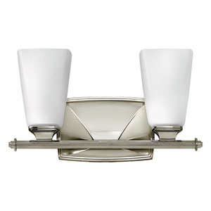 Darby Polished Nickel Two-Light Bath Sconce